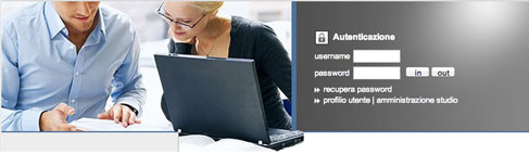 La home page del portal